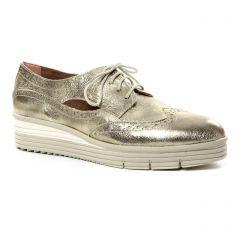 derbys-talons-compenses marron doré: même style de chaussures en ligne pour femmes que les Tamaris