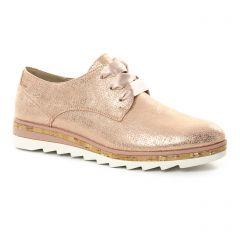 derbys-talons-compenses rose doré: même style de chaussures en ligne pour femmes que les Marco Tozzi