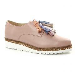 derbys-talons-compenses rose: même style de chaussures en ligne pour femmes que les Pintodiblu