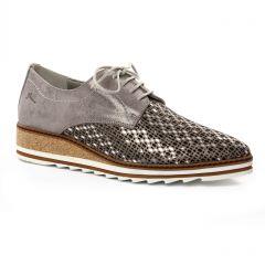 derbys gris argent: même style de chaussures en ligne pour femmes que les Remonte