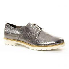 Chaussures femme été 2018 - derbys tamaris gris argent