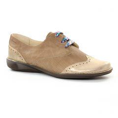 derbys marron doré: même style de chaussures en ligne pour femmes que les Dorking