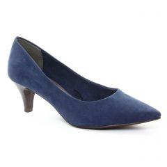 Chaussures femme été 2018 - escarpins tamaris bleu marine