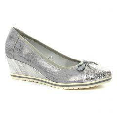 ballerines-talons-compenses gris argent blanc: même style de chaussures en ligne pour femmes que les Fugitive