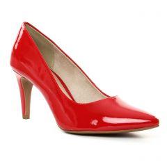 escarpins rouge vernis: même style de chaussures en ligne pour femmes que les Tamaris