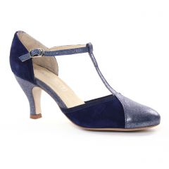 Chaussures femme été 2018 - escarpins salomé Maria Jaén bleu marine