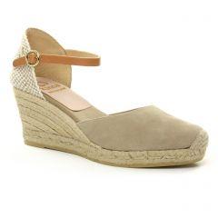 espadrilles-compensees-cordes beige marron: même style de chaussures en ligne pour femmes que les La Lune Et Toi
