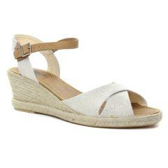 espadrilles-compensees gris argent: même style de chaussures en ligne pour femmes que les La Lune Et Toi