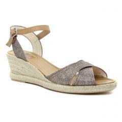 espadrilles-compensees gris mauve: même style de chaussures en ligne pour femmes que les La Lune Et Toi