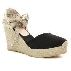espadrilles-compensees noir beige: même style de chaussures en ligne pour femmes que les Kanna