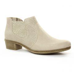 Chaussures femme été 2018 - low boots rieker beige clair