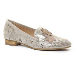 mocassins beige doré: même style de chaussures en ligne pour femmes que les Mamzelle