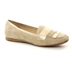 mocassins beige doré: même style de chaussures en ligne pour femmes que les Pintodiblu