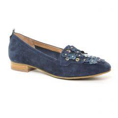 Mamzelle Zan Navy : chaussures dans la même tendance femme (mocassins bleu marine) et disponibles à la vente en ligne