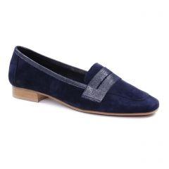 mocassins bleu marine: même style de chaussures en ligne pour femmes que les Scarlatine