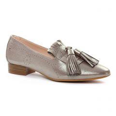 mocassins bronze doré: même style de chaussures en ligne pour femmes que les Maria Jaén
