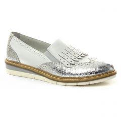 mocassins-confort blanc argent: même style de chaussures en ligne pour femmes que les Tamaris