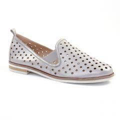 Chaussures femme été 2018 - mocassins confort Caprice gris argent