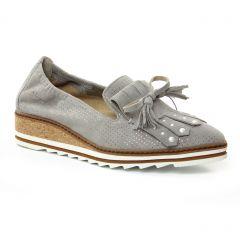 mocassins-slippers gris argent: même style de chaussures en ligne pour femmes que les Dorking