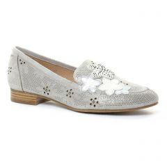 mocassins gris argent: même style de chaussures en ligne pour femmes que les Mamzelle