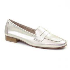 mocassins gris argent: même style de chaussures en ligne pour femmes que les Scarlatine