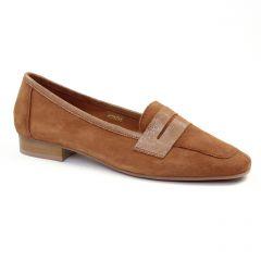 mocassins marron doré: même style de chaussures en ligne pour femmes que les Scarlatine