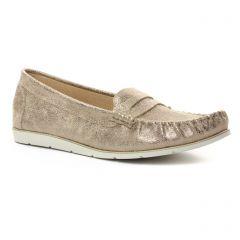 mocassins marron doré: même style de chaussures en ligne pour femmes que les Tamaris