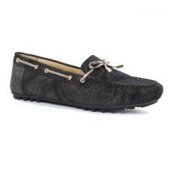 Chaussures femme été 2018 - mocassins Geox noir doré