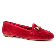 mocassins rouge: même style de chaussures en ligne pour femmes que les Maria Jaén