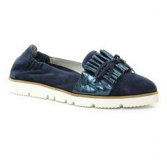 mocassins-slippers bleu marine: même style de chaussures en ligne pour femmes que les Mamzelle
