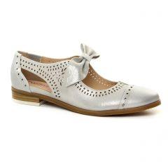 mocassins-slippers gris argent: même style de chaussures en ligne pour femmes que les Fugitive