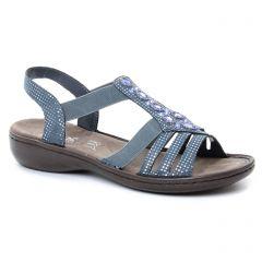 sandales bleu argent: même style de chaussures en ligne pour femmes que les Rieker