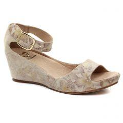 nu-pieds-talons-compenses beige marron: même style de chaussures en ligne pour femmes que les Gaimo