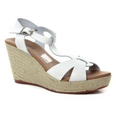 Chaussures femme été 2018 - nu-pieds compensés Scarlatine blanc