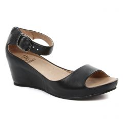 Mamzelle Pantin Noir : chaussures dans la même tendance femme (nu-pieds-talons-compenses noir) et disponibles à la vente en ligne
