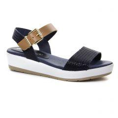 sandales-compensees bleu marine: même style de chaussures en ligne pour femmes que les Café Noir