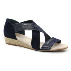 nu-pieds-talons-compenses bleu marine: même style de chaussures en ligne pour femmes que les Scarlatine