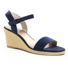 nu-pieds-talons-compenses bleu marine: même style de chaussures en ligne pour femmes que les Tamaris