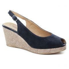 espadrilles-compensees bleu marine: même style de chaussures en ligne pour femmes que les La Lune Et Toi