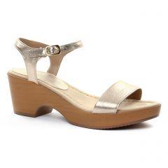 nu-pieds-talons-compenses doré: même style de chaussures en ligne pour femmes que les Maria Jaén