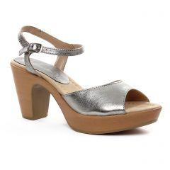 nu-pieds-talons-compenses gris argent: même style de chaussures en ligne pour femmes que les Scarlatine