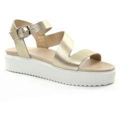sandales-compensees marron beige: même style de chaussures en ligne pour femmes que les Scarlatine