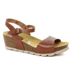 Chaussures femme été 2018 - nu-pieds compensés Scarlatine marron
