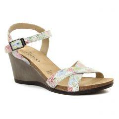 nu-pieds-talons-compenses multicolore: même style de chaussures en ligne pour femmes que les Jb Martin