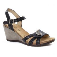 nu-pieds-talons-compenses noir: même style de chaussures en ligne pour femmes que les Geo Reino