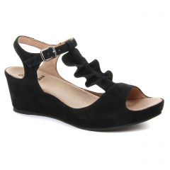 nu-pieds-talons-compenses noir: même style de chaussures en ligne pour femmes que les Khrio