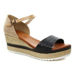 espadrilles-compensees noir: même style de chaussures en ligne pour femmes que les La Lune Et Toi