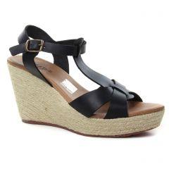 nu-pieds-talons-compenses noir: même style de chaussures en ligne pour femmes que les Scarlatine