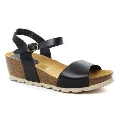 Chaussures femme été 2018 - nu-pieds compensés Scarlatine noir