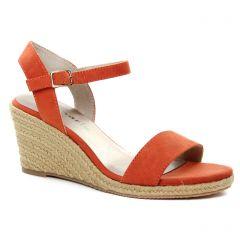 nu-pieds-talons-compenses orange: même style de chaussures en ligne pour femmes que les Tamaris
